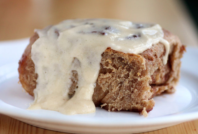 Baker Miller cinnamon roll with raw sugar icing, photo: Sean Cooley