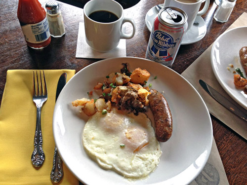 PBR Breakfast at Longman & Eagle, photo: Blake Royer