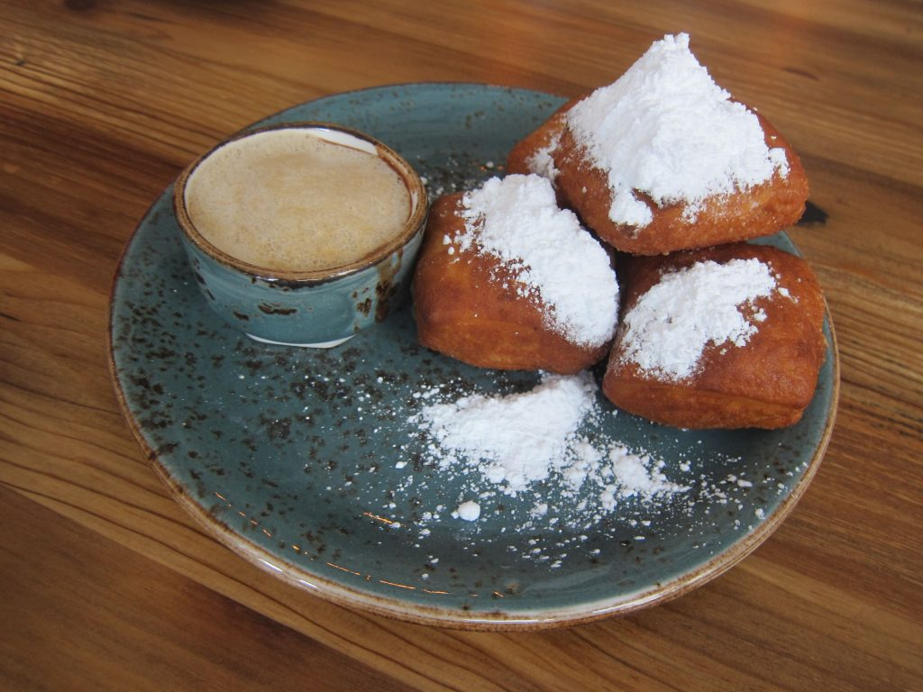 Carriage House's beignets dusted with confectioners sugar, photo: Endo Edibles
