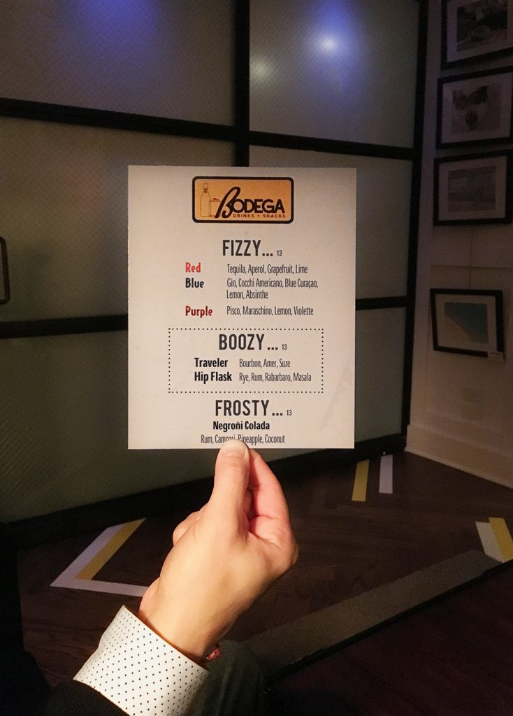 Bodega Chicago menu reviewed by Leah Nolan of the Chicago Chic.