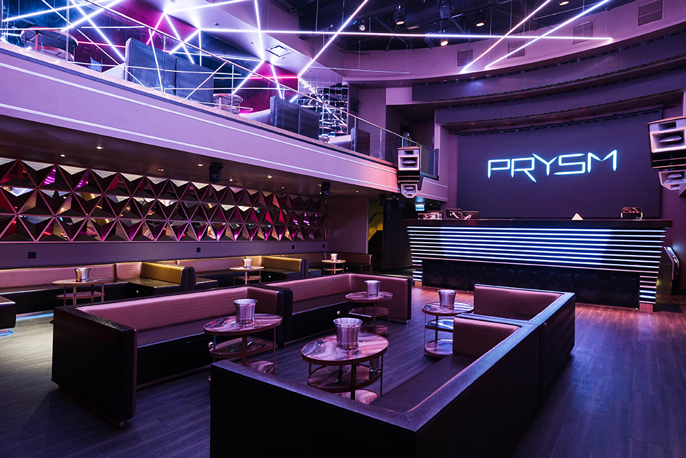 The interior of PRYSM nightclub on the Chicago Chic.