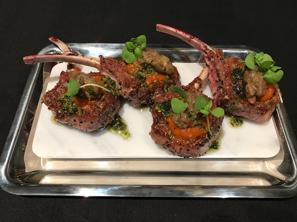 The lamb lollipops at the Esquire Champagne Room.