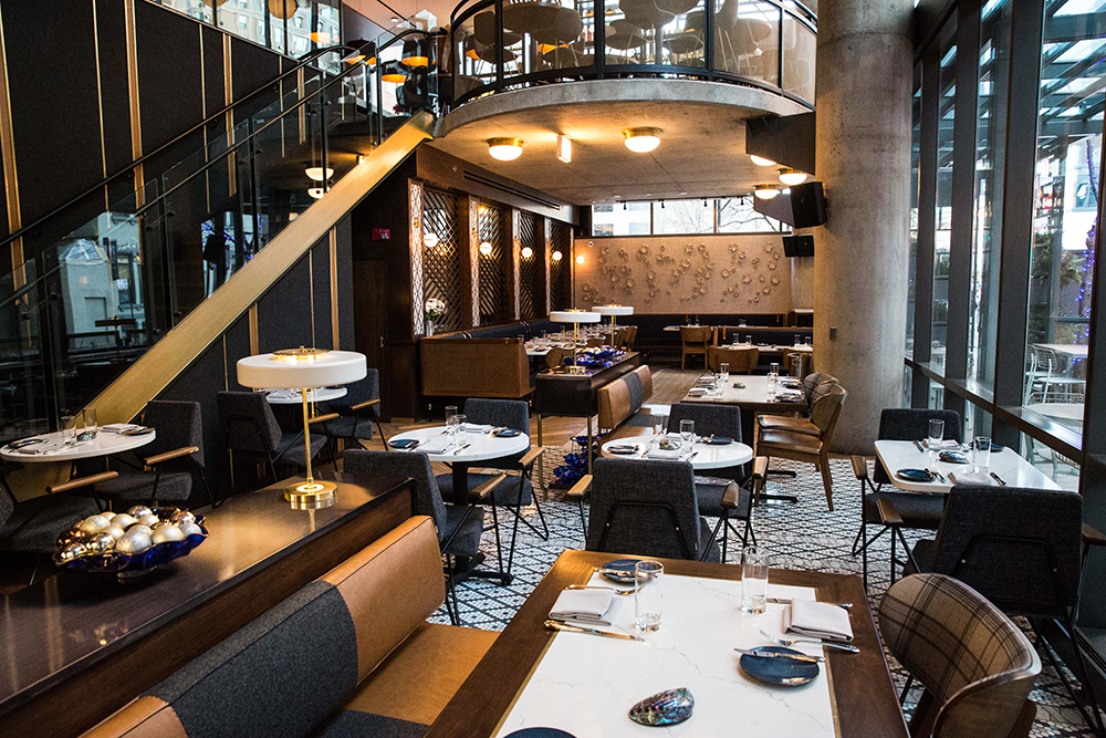 The interior of Portsmith Chicago on the Chicago Chic as reviewed by Leah Nolan.